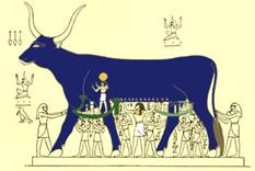 hathor-giving-milk-horus-pharaoh