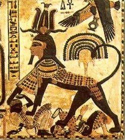 Pharaph_Sphinx_Crushing_Egypt's_Enemies