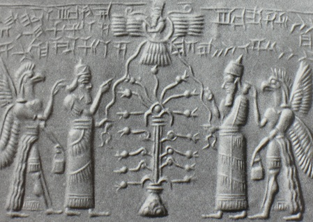 winged-disk-christmas-tree-Mesopotamian